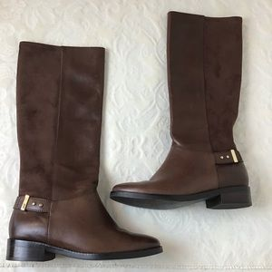 COLE HAAN Adler Chestnut Brown Riding Boots